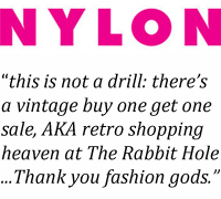The Rabbit Hole vintage sale ... Thank you fashion gods.